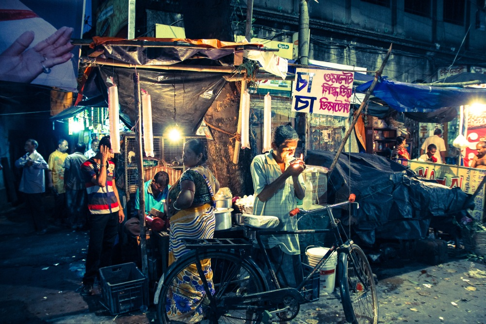 Chai stand, Baghbazaar, Kolkata.